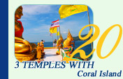 Private Trip to 3 Temples with Coral Island