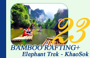 Bamboo Rafting Elephant Trek at Khaosok
