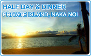 Half Day and Dinner at Private Island Naka Noi