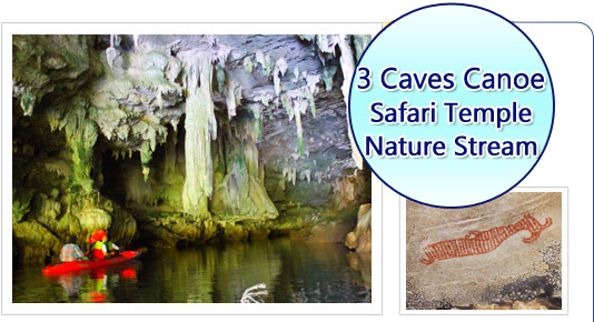 3 Caves Canoe Safari Temple Nature Stream