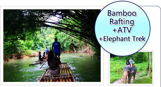 Bamboo Rafting ATV Elephant Trek